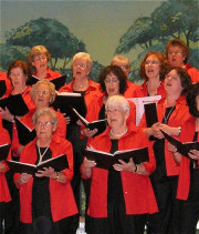Gemeinsames Konzert in der Stadthalle Erkrath, Frauenchor Hochdahl 1942 und Männerchor Düsseldorf 1874 am 21. April 2013
